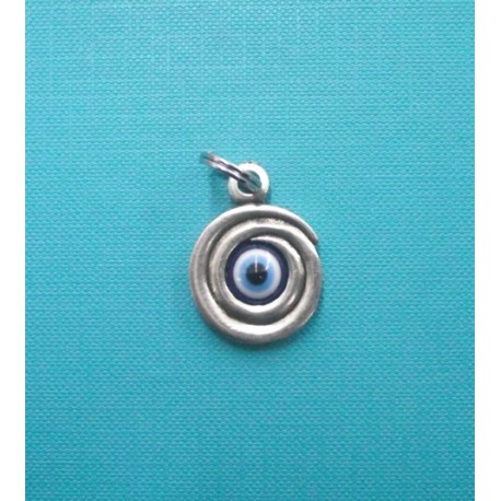 FANCY EYE SPIRAL CHARM