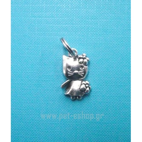 FLOWER KITTY CHARM