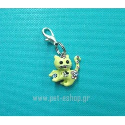 YELLOW KITTEN CHARM 3-D